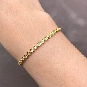 Jewelry - 18K real gold tennis bracelet with real diamonds